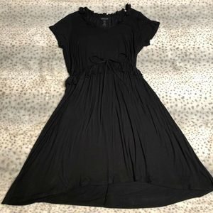 Ashley Stewart Midi Dress 14/16 Short Sleeve Black